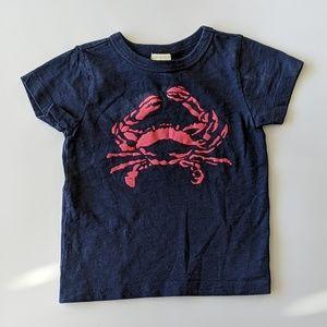 JCrew Crewcuts Crab Toddler Tee
